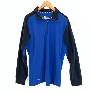 Nike Therma Fit Blue half zip up pull over sweater